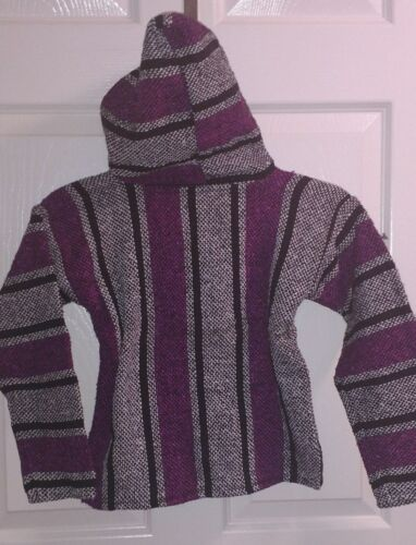 New Baja Surfer Children Hoodie Mexican Pullover Striped Multicolor Sz 1-4T