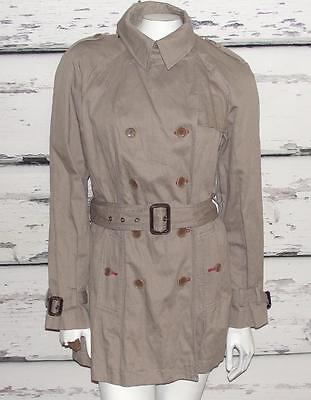 BANANA REPUBLIC HERITAGE~$198.00~NWT~TRENCH COAT~BELTED PEACOAT LONG JACKET~L