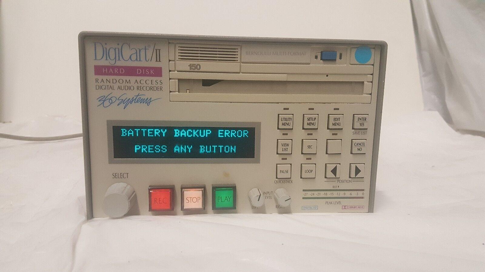 360 Systems Digicart II  Hard Drisk Random Access Digital Audio Recorder