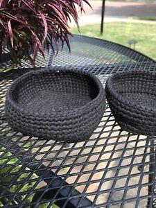 Black Square Nesting Baskets