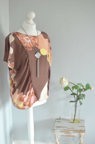 Floral Print 12 Blouse Uk Us Missoni Designer 8 Silk EqwxBt