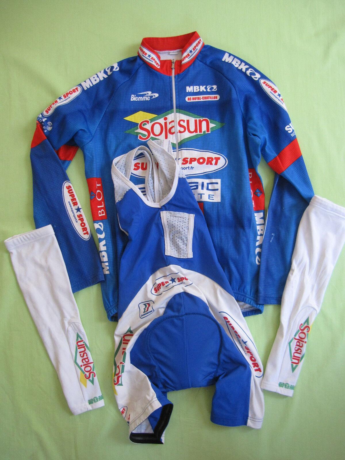 Cuissard cycliste Soja sun + Manchettes + Veste Ac Noyal Chatillon Pro - 3   M