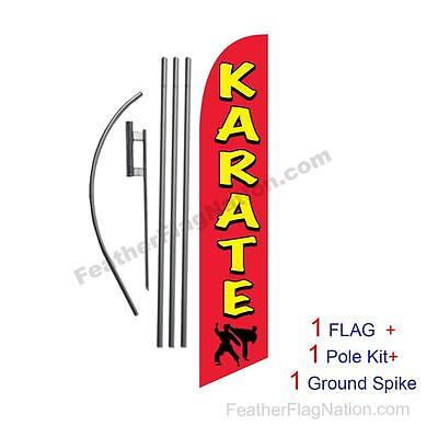 FLAG ONLY Karate 12ft Feather Banner Swooper Flag
