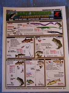 Details about FRESHWATER FISH Bait Rigging Chart - Tightline Tightlines  Publications #1