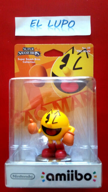 AMIIBO PAC MAN NUMERO 35 SUPER SMASH BROS COLLECTION NEUF NINTENDO WII U PACMAN