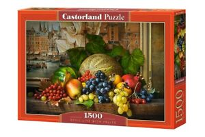 "Brand New Castorland Puzzle 1500 STILL LIFE WITH FRUITS 27"" x 17.5"" C-151868"