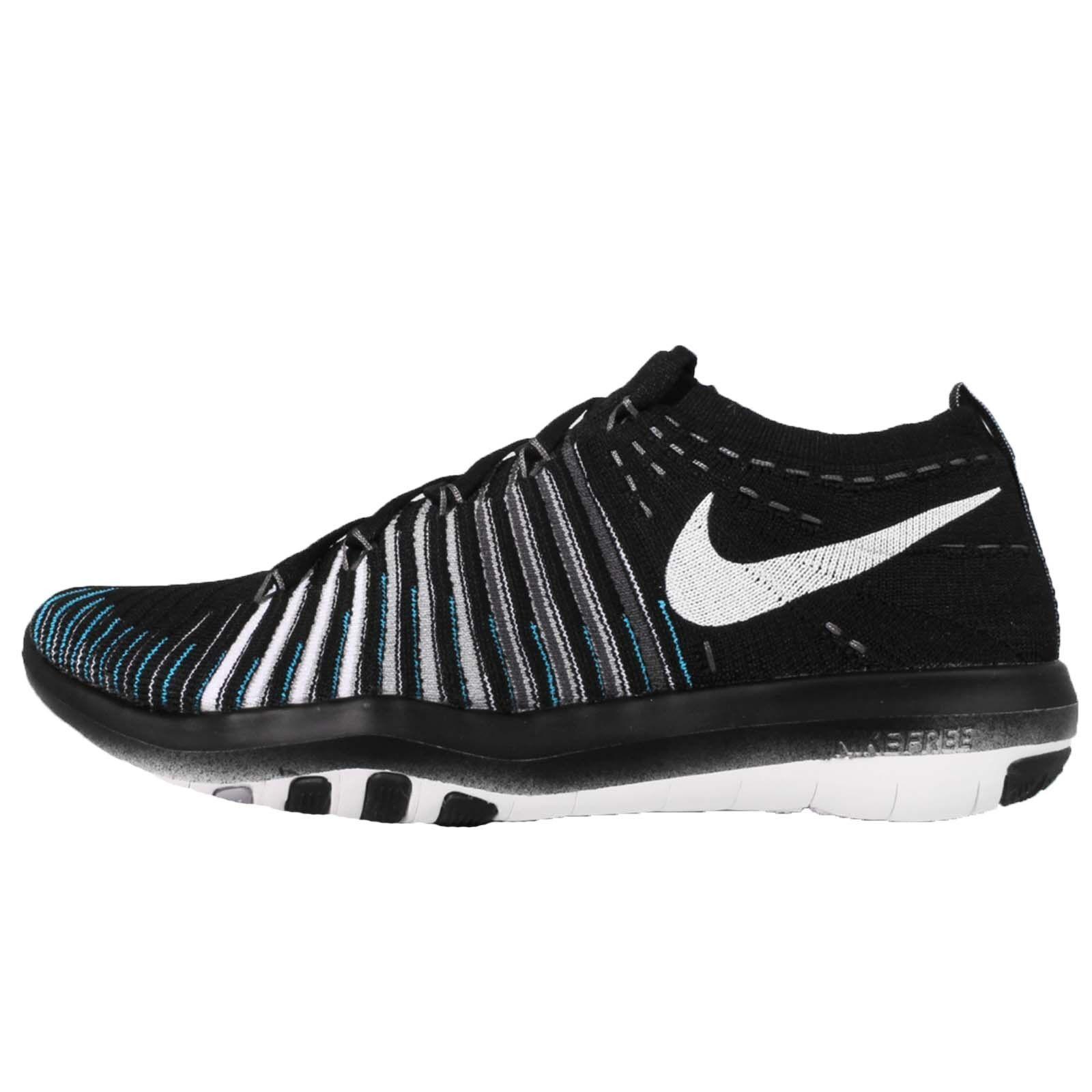Wmn's Nike Free Transform Flyknit Running shoes Blk Wht Grey 833410 001 Sz 8.5