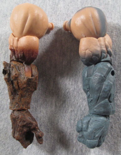 Wood//Stone Absorbing Man Arms Left Right LOOSE BAF piece Marvel Legends series