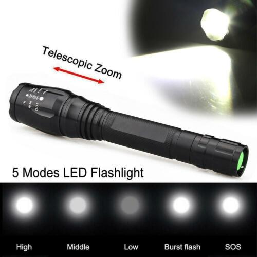 Zoomable 20000LM 5-Mode  T6 LED Flashlight 18650 Torch Lamp Light KS
