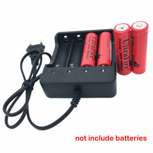 NEW-4-Slots-EU-Plug-Battery-Batteries-Charger-for-3-7V-4x-18650-Rechargeable