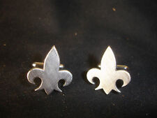 Collectible Swank Silver Toned Men's Cuff Links Jewelry