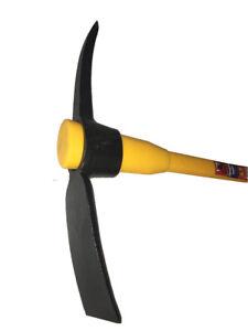 Pick-Axe-Mattock-5lb-Steel-Head-Heavy-Duty-Fibreglass-Handle-shaft-90cm-36in
