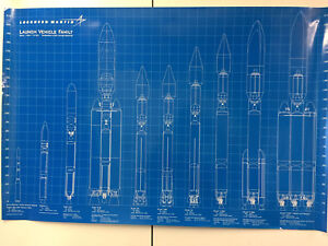 """Lockheed Martin Launch Vehicle Family Art Print Poster 36""""x24"""" By Scientific Process"""