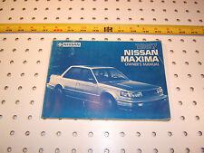 Nissan Maxima 1987 owner's OEM1 manual,OM7E-0U11U1, 1987 Nissan Maxima