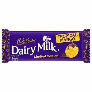 Cadbury dairy milk tropical mango chocolate bar 36 gram 1. 26 oz.