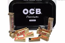OCB ROLLING TRAY BUNDLE WITH RAW ROLLER AND RAW ROLLING PAPER