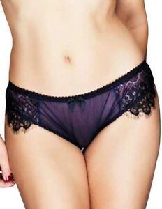Claudette En Dentelle Intense Bikini Panties Briefs Panty Lingerie Neon Violet