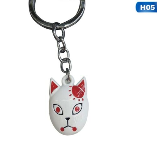 Demon Slayer Anime Alloy Metal Drip Keychain Pendant Lssed