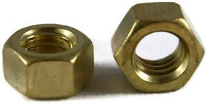 Qty 25 Brass Solid Hex Acorn Cap Nut UNC 3//8-16