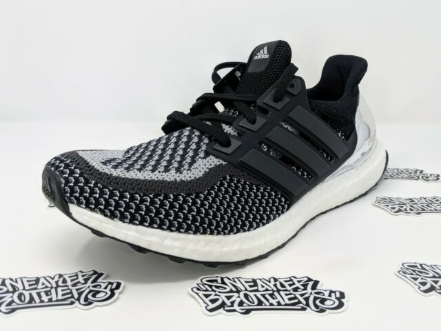 finest selection fefbb 675be Adidas Ultra Boost 2.0 Men's Silver Medal Core Black Metallic Silver BB4077