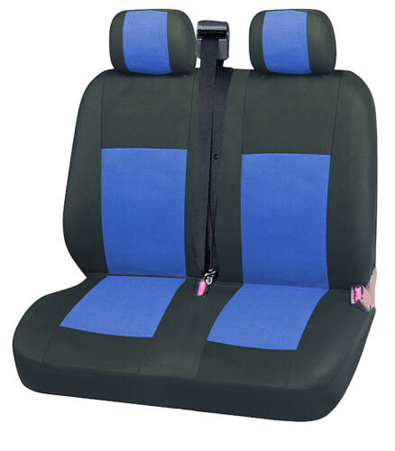 2x Vordere Sitzbezüge Schonbezüge 2+1 Neu Blau Schwarz
