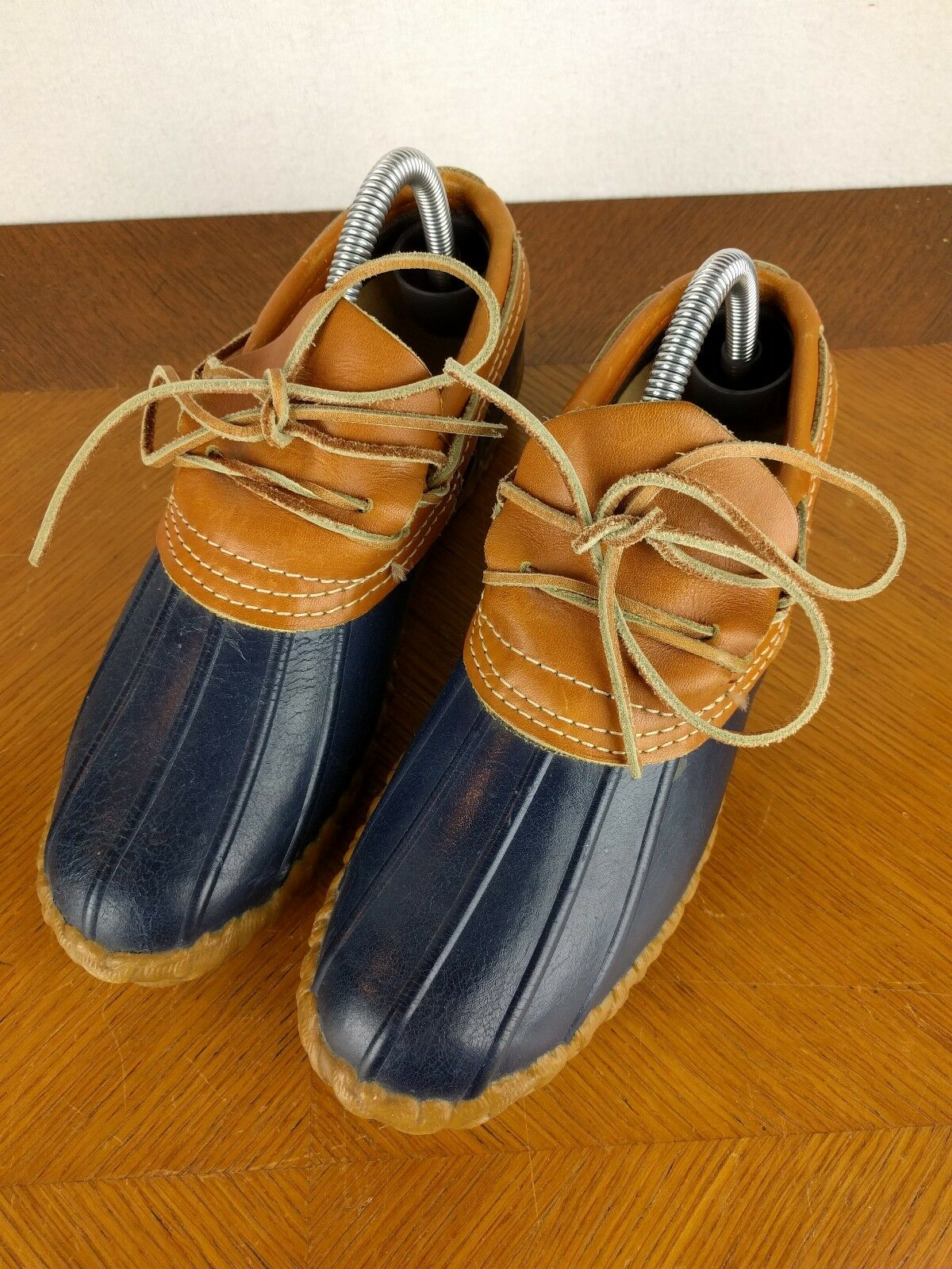 VTG LL Bean Maine Hunting Boots bluee Sz 8 USA Duck Rubber Leather Ankle shoes