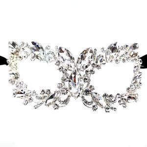 Chunky Crystal Rhinestone Royal Venetian Masquerade Wedding Prom Party Eye Mask