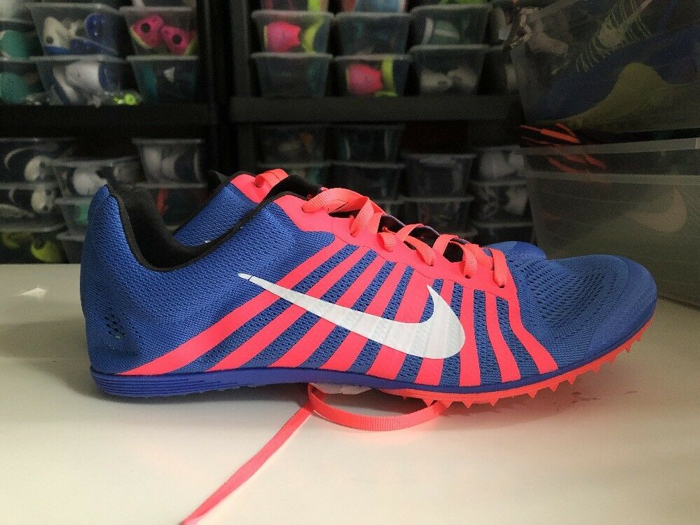 New NIKE Zoom Distance Track Running Spikes Shoes Mens 11.5 Blue 819164-416 New shoes for men and women, limited time discount