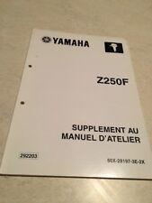 Yamaha moteur Z250F Z 250 F additif hors bord  manuel atelier service manual 02