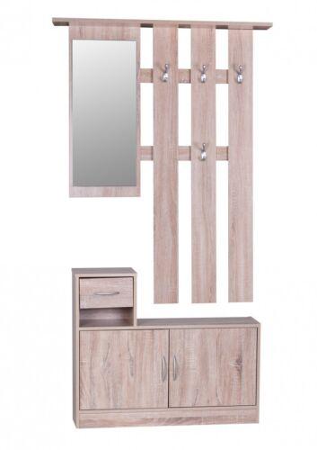 Garderoben Set mit Spiegel Sonoma Dielen Set Flurgarderobe Flurmöbel Dielenmöbel