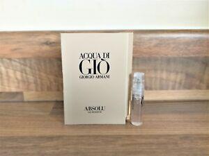 Giorgio Armani Acqua Di Gio Absolu Eau De Parfum Mens Sample 1.2 ... d7f48f745b75d