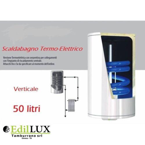 Scaldabagno TermoElettrico ST Verticale LT.50 con Serpentino GARANZIA 5 ANNI