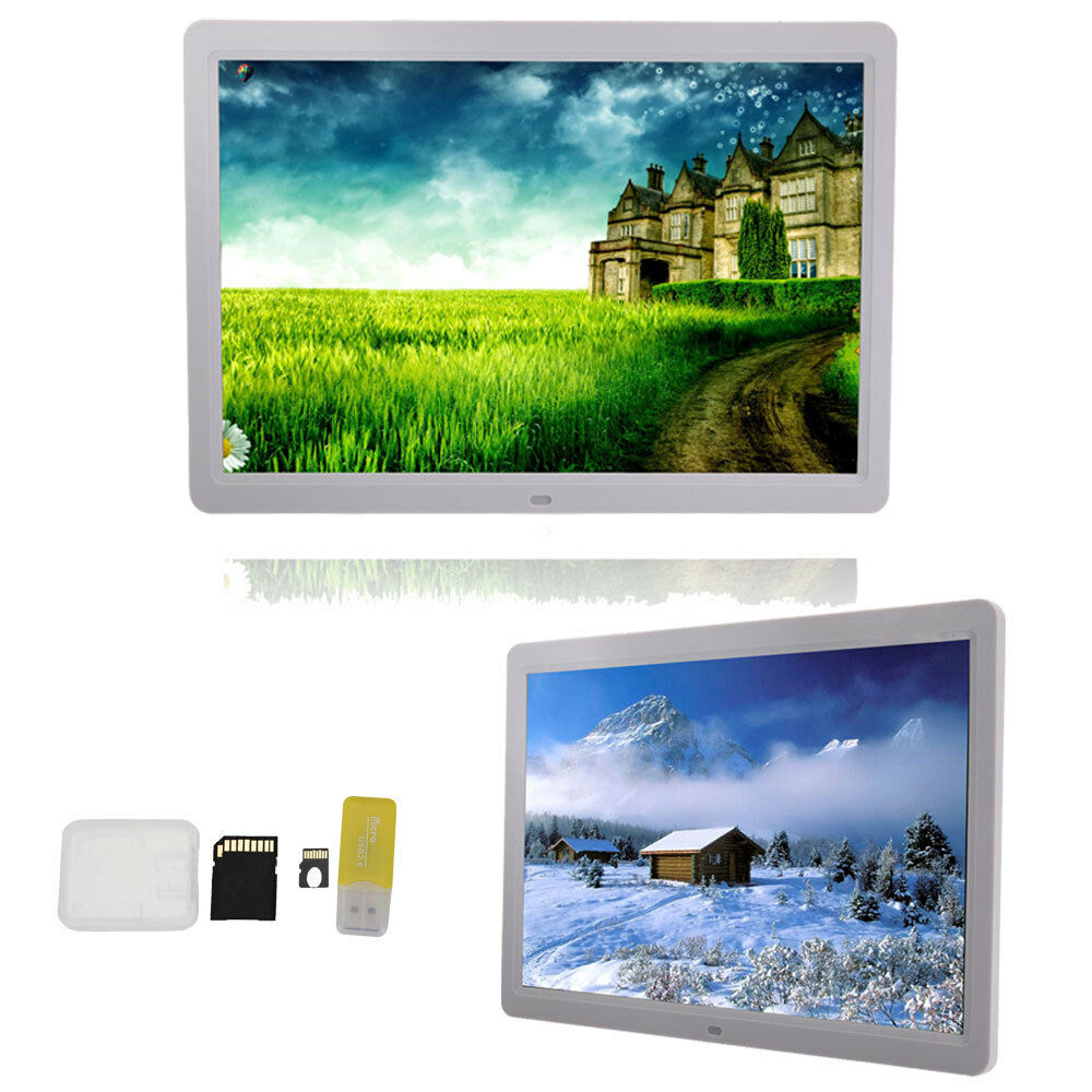 """New 15"""" Inch Digital Photo Frame Picture LED Media Movie Player +  8GB TF Card 1"""