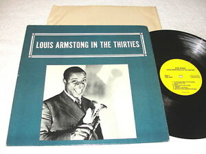 Louis-Armstrong-034-In-The-Thirties-034-1970-039-s-Jazz-LP-Nice-EX-on-Alamac