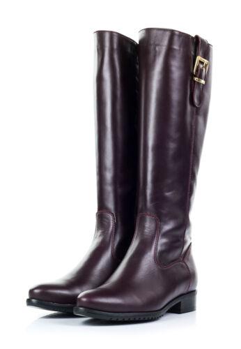 Lisa Minardi Damen Stiefel Leder Absatz 3 cm lila Größe 41