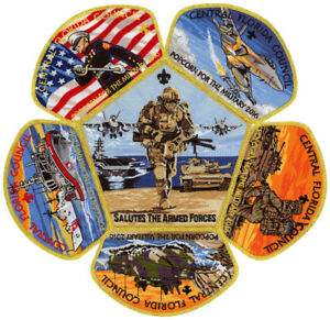 2016-Central-Florida-Council-Military-CSP-Scout-Patch-Badge-Set-BSA-Lot-Jamboree