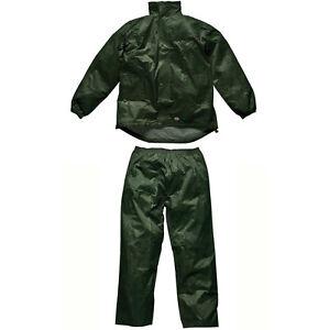 Homme Dickies Vert Imperméable Vermont Costume Petit - Xxl Wp10050 Travail à