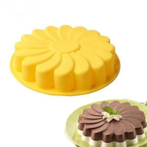 Silicone-Sunflower-Baking-Round-Pan-Kitchen-Round-Bread-Cake-Chocolate-M-AU