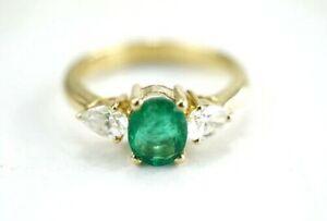 luxurioeser-750er-Gold-Ring-Smaragd-Edelsteine-Brillant-18-Karat-4-30g-Gr-54
