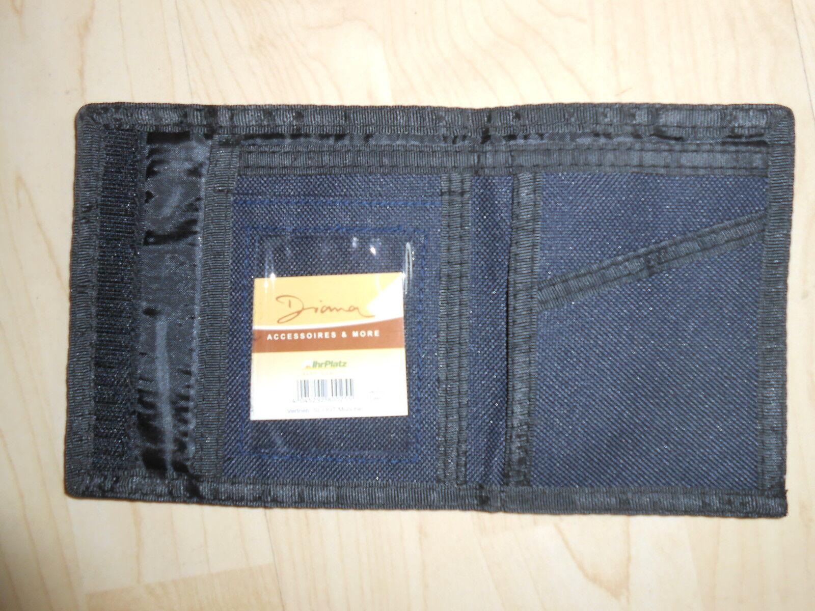 Brieftasche: mit verschiedenen Fächern + Klettverschluß, Marke Dian, NEU + OVP!