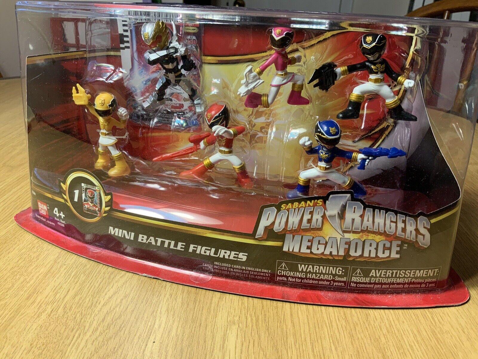 Power Rangers Megaforce Battle Figures 6 Set Battle-ready Rare