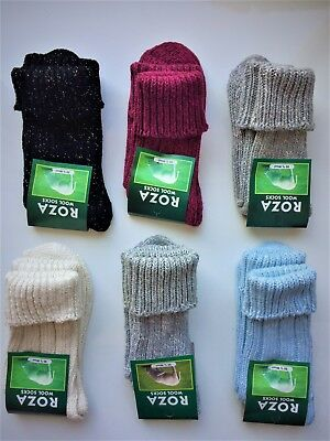 6 Pairs Women Luxury High Quality Chunky Thick Thermal Fresh Fell Wool Socks MBK