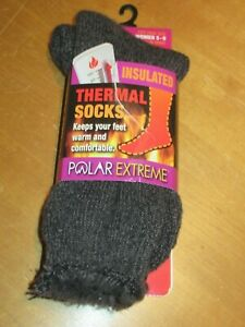 Polar Extreme Insulated Thermal Women/'s Fleece Slippers NEW