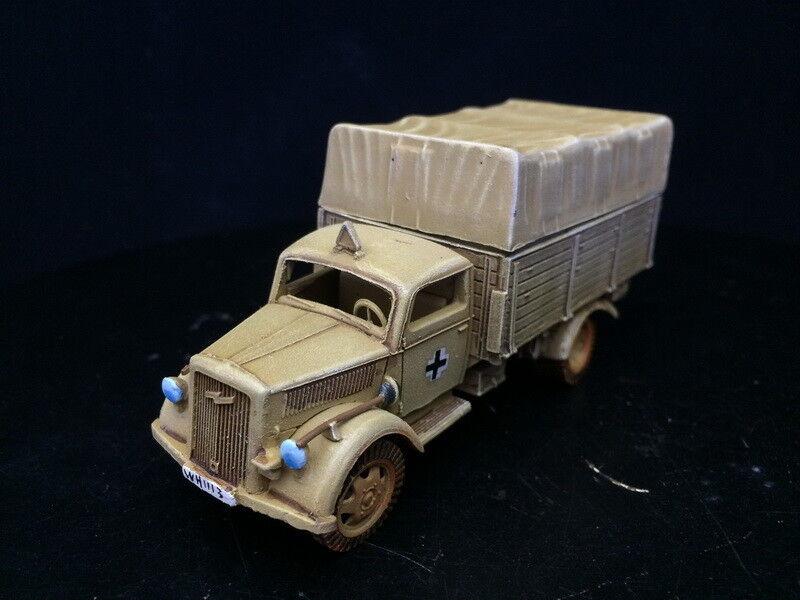 1 56 28mm Segunda Guerra Mundial del Departamento de Seguridad Pública Pintado Perno acción Dak Opel camión GH1408