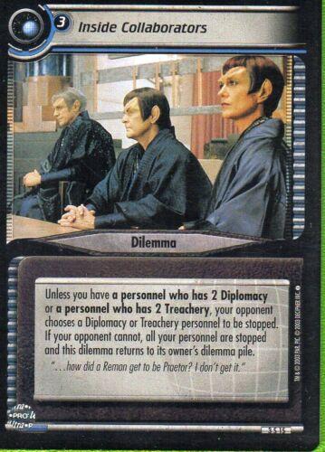 2nd Edition Star Trek TCG//CCG Inside Collaborators #3S15