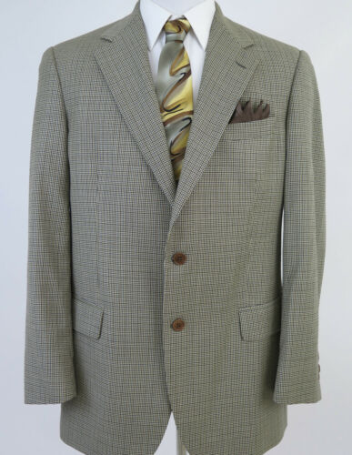 Vintage Brooks Brothers Gray Blazer 100/% Wool Single Breasted Sport Coat Small