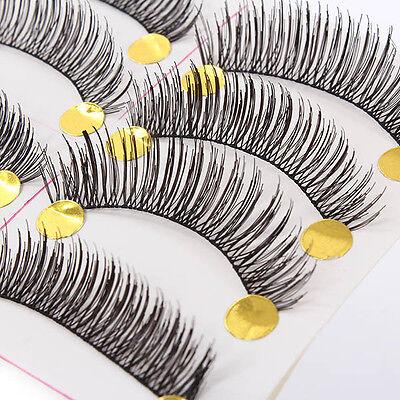 10 Pairs Handmade Soft Cross Long Curl False Eyelashes Natural Fake Eye Lashes