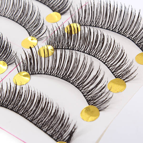 10 Pairs Handmade Soft Cross Long Curl False Eyelashes Natural Fake Eye Lashes