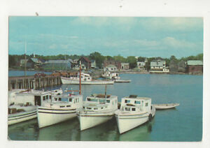 Details about Fishing Boats In Harbour New Brunswick Canada Postcard US047