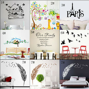 Removable-Art-Vinyl-Quote-DIY-Dandelion-Wall-Sticker-Decal-Mural-Home-Room-Decor